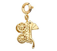 14K Yellow Gold Baby Carriage Charm - J298462