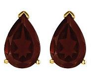 Pear-Shaped Gemstone Stud Earrings, 14K Gold - J314062