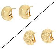 Dieci Omega Back Hoop Earrings 10K Gold - J332262
