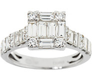 Baguette & White Diamond Ring, 18K Gold 1.70 cttw by Affinity - J347662