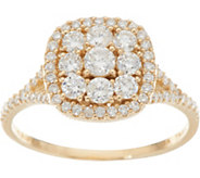 Judith Ripka 14K Gold 1.00 cttw Pave Diamond Ring - J348262