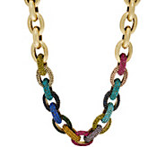 LOGO Links Lavish Rainbow Pave Links Necklace - J350462