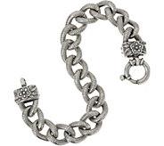 Or Paz Sterling Bold Curb Link Bracelet 38.0g - J352462
