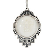 American West Moon Face Mother of Pearl Sterling Silver Enhancer - J352862