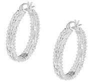Imperial Silver Mirror Wheat Hoop Earrings, Sterling Silver - J354762