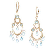 Imperial Gold & Gemstone Dangle Earrings, 14K Gold - J354862