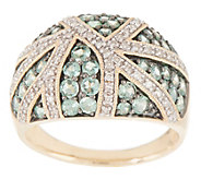 Alexandrite and Diamond 14K Gold Pave Band Ring, 1.35 cttw - J355362