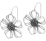 Or Paz Sterling Silver Open Flower Dangle Earrings or Necklace - J356362