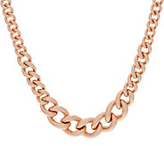 Bronzo Italia Graduated Curb Link Bronze 18 Necklace - J357862