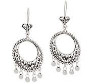 Artisan Crafted Sterling Silver Filigree Chandelier Earrings - J358062