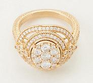 Judith Ripka 14K Gold Cluster Diamond Ring, 1.60 cttw - J360862