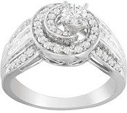 Diamond Swirl 2-Piece Ring, 14K, 6/10 cttw, byAffinity - J376862