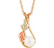 Black Hills Cultured Pearl Pendant w/ Chain 10K/12K - J377462