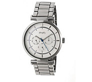 Simplify Stainless Bracelet Watch with White Dial - J380362