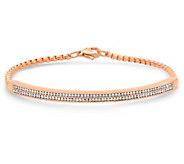 Steel By Design Crystal Channel Setting Bracelet - J390662