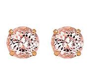 14K Rose Gold Round Morganite Earrings - J392162