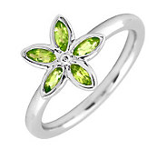 Simply Stacks Sterling & Peridot Romantic Flower Ring - J299463