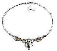 Hagit Gorali Gemstone Leaf Collar, Sterling/14KGold - J305463