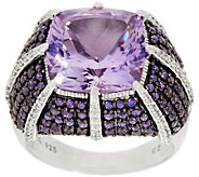 Judith Ripka 1.90 ct tw Diamonique & 7.20 ct Gemstone Ring - J317363