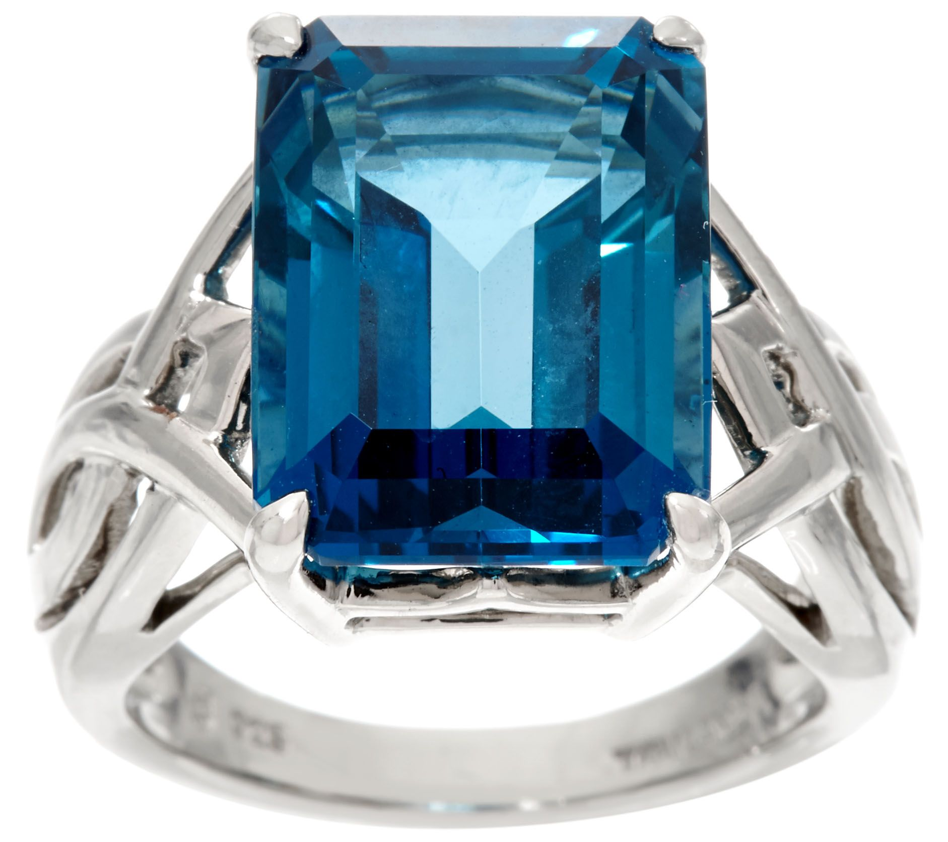 topaz cushion blue cut diamonds zm silver kaystore to zoom ring mv with hover rings kay sterling en