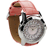 Honora Cultured Pearl Watch with Leather Strap - J336763