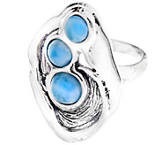 Hagit Sterling & Larimar Elongated Ring - J339263
