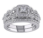 Affinity 1/2 cttw Princess Cut & Round DiamondSet, 14K - J344563