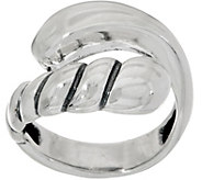 Carolyn Pollack Sterling Silver Ribbed & Polished Bypass Ring - J349463