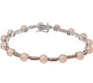 Honora Cultured Pearl and Diamond 8 Bracelet, Sterling - J350663