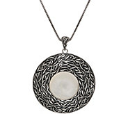 Or Paz Sterling Silver Mother-of-Pearl Textured Pendant w/Chain - J352463