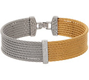 ALOR Cable Stainless Steel & Diamond Two-Tone Bangle - J354563