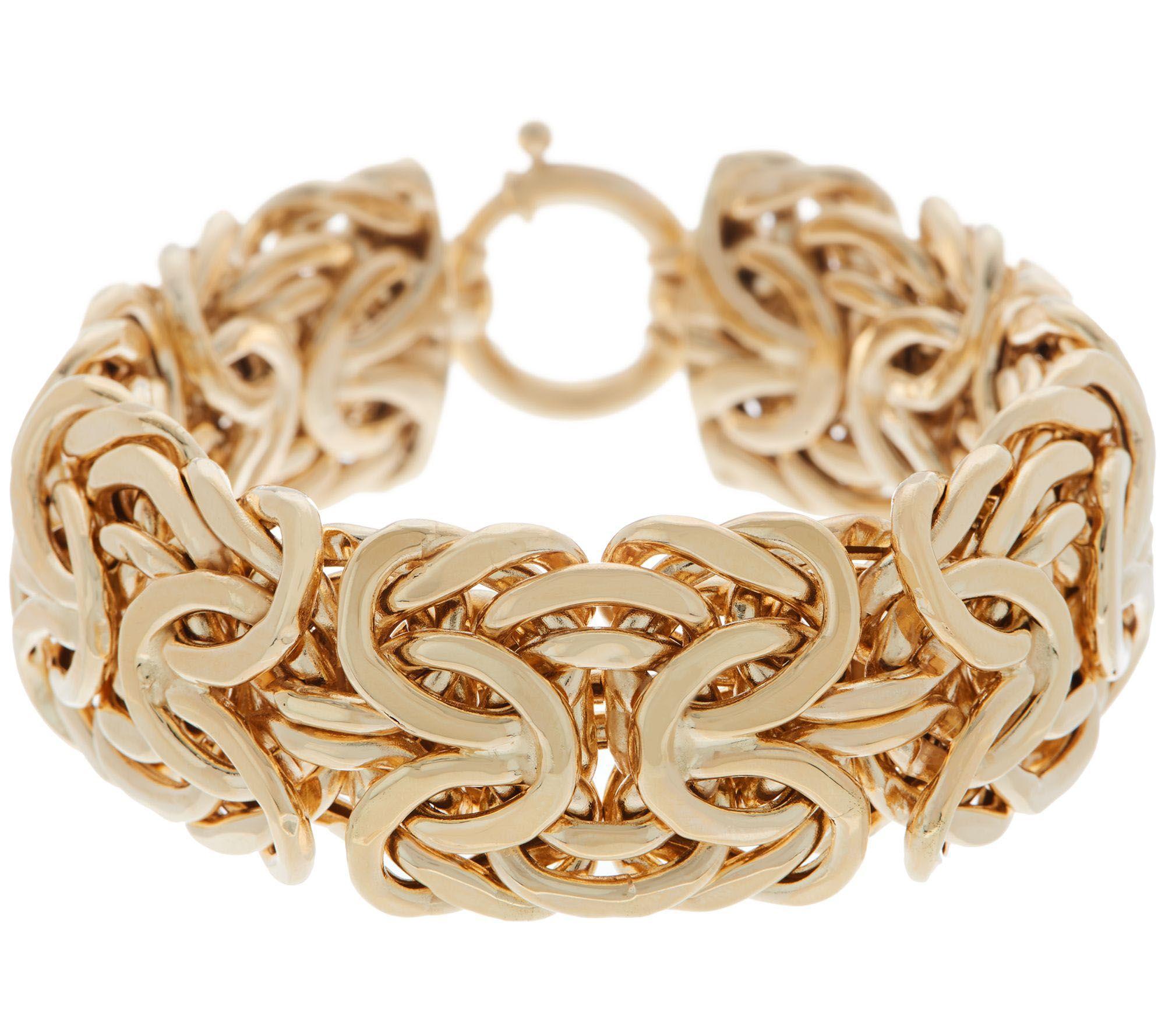 Adorna 14k Gold 8 Bold Byzantine