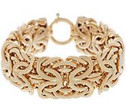 14K Gold 8 Bold Byzantine Bracelet, 50.0g - J357163