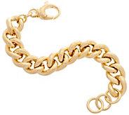 Bronzo Italia Curb Link Bronze Bracelet - J357863