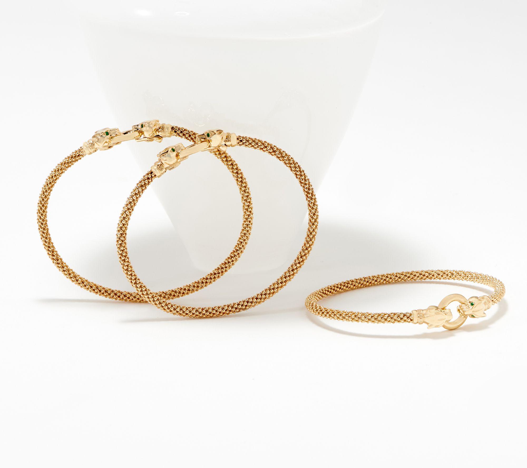 Italian Gold Panther Head Bracelet 14k Qvc