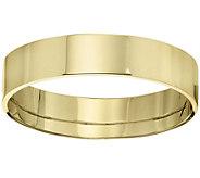 Womens 18K Yellow Gold 5mm Flat Comfort Fit Wedding Band - J375363