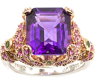 Sterling 5.90 cttw Amethyst & Pink Sapphire
