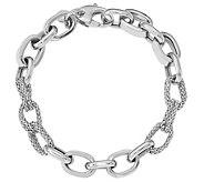Italian Gold 14K Mesh & Polished Link Bracelet,10.0g - J384863