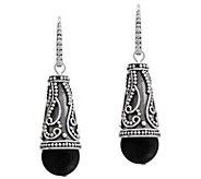 Artisan Crafted Sterling Silver Black Onyx Earrings - J385163