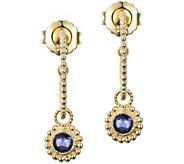 Judith Ripka 14K Gold Iolite Beaded Hoop Earrings - J385263