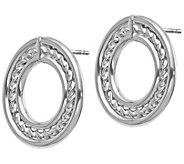 Italian Gold Circle Design Earrings, 14K - J385563