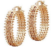 Imperial Gold Double Wheat Hoop Earrings, 14K - J388763