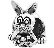 Prerogatives Sterling Easter Bunny with BasketBead - J110364