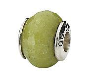 Prerogatives Sterling Apple Green Quartz Gemstone Bead - J298264