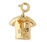 14K Yellow Gold Boy T-shirt Charm - J298464