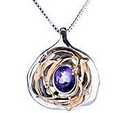 Hagit Gorali Sterling/14K Teardrop Gemstone Pendant w/Chain - J308364