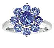 Sterling 2.25 cttw Tanzanite Flower Ring - J308564