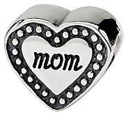 Prerogatives Sterling Mom Heart Bead - J312764