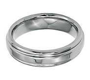 Stainless Steel 6mm Ridged Edge Polished Ring - J314264