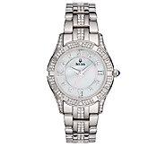 Bulova Ladies Stainless Steel Crystal AccentedBracelet Watch - J316364